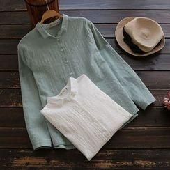 YOYO - 長袖皺面襯衫