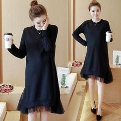Ceres - Maternity Long-Sleeve A-Line  Dress