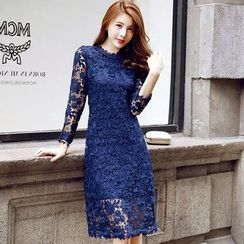 Lovi - Long-Sleeve Lace Dress