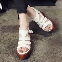 CITTA - Genuine Leather Platform Sandals