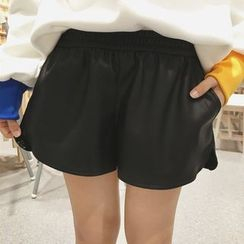 OCTALE - Faux Leather Shorts