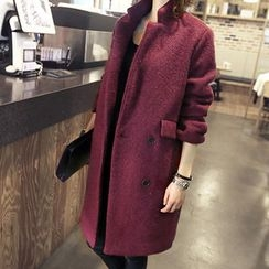 NANING9 - Wool Blend Double-Breasted Coat