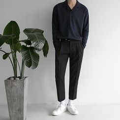 Seoul Homme - Notched-Lapel Long-Sleeve Top