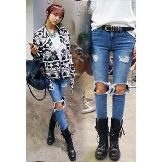 imvely - Cut-Out Skinny Jeans