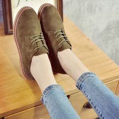 Chryse - Lace-Up Faux Suede Shoes