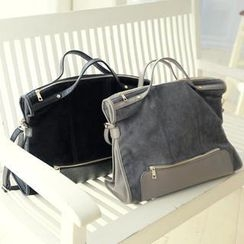 REDOPIN - Faux-Suede Shoulder Bag