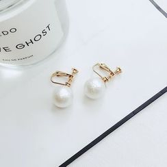 Taimi - Faux-Pearl Clip-on Earrings