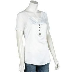 Small Mosquitoes - V-Neck Sheer Top
