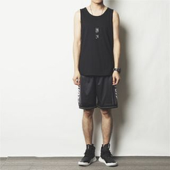 Mr.C studio - Dip Back Plain Tank Top