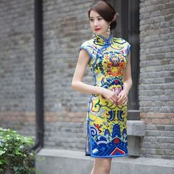 Miss Four Qipao - Printed Cheongsam
