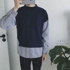 Etoile - Stripe-Panel Pullover