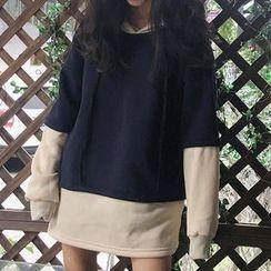 Cloud Nine - 假兩件長款衛衣
