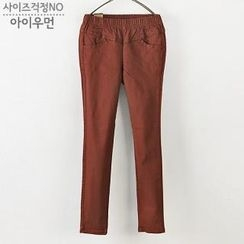 I WOMAN - Elastic-Waist Pants