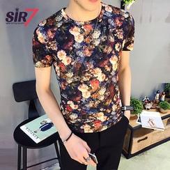 SIRIUS - Floral Print Short-Sleeve T-shirt