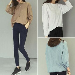 Anlay - 纯色长袖T恤