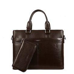 Filio - Faux Leather Business Bag / Clutch