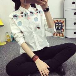Neeya - 刺繡襯衫