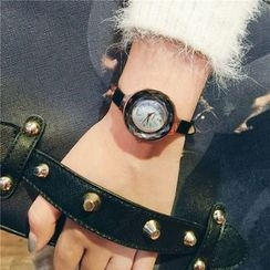 Honey Bee - Thin Strap Faceted Watch