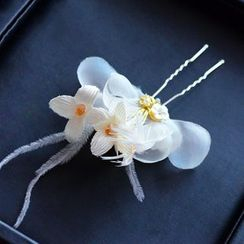 Ashmi - Bridal Flower Hair Pin