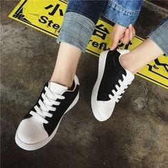 Hipsole - Printed Lace-Up Sneakers