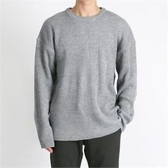 THE COVER - Crew-Neck Drop-Shoulder Sweater