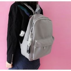 Bolso - Set: Plain Backpack + Zip Pouch