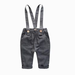 Kido - 儿童条纹背带裤