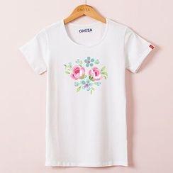 Onoza - Short-Sleeve Floral T-Shirt