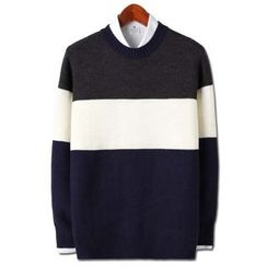 Seoul Homme - Color-Block Sweater