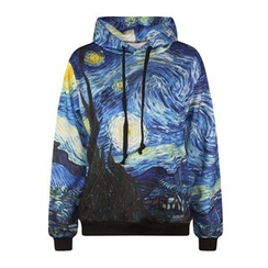Omifa - Printed Hooded Pullover