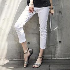 Ranee - Cropped Tapered Pants