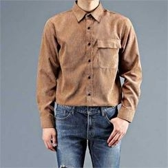 THE COVER - Flap-Pocket Front Corduroy Shirt
