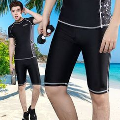 UniFIN - Set : Short-Sleeve Rashguard + Short Water Pants