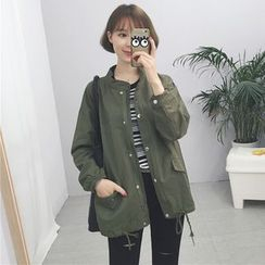 Tiny Times - Stand Collar Zip Jacket