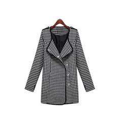 GRACI - Houndstooth Woolen Coat
