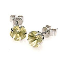 Bellini - Flower Blossom Lemon Quartz Stud Earrings