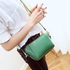 Secret Garden - Faux Leather Shoulder Bag