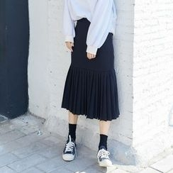 AC - Pleated Midi Skirt