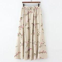 ninna nanna - Floral A-Line Maxi Skirt