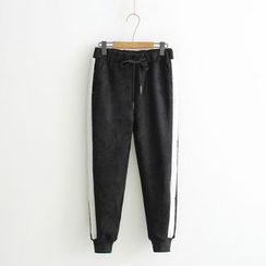 TOJI - Drawstring Paneled Pants