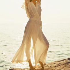 Sunset Hours - Chiffon Wrap-Front Cover-Up