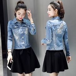 Romantica - Distressed Denim Jacket