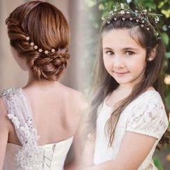 Caramella - 童裝水鑽花形髮簪