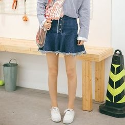 MOJIN - A-Line Denim Skirt