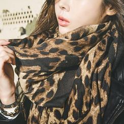 GUMZZI - 豹紋印花圍巾