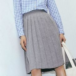 SUYISODA - Pleated Midi Skirt