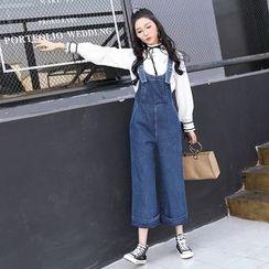 Katie Bloom - 寬腿背帶牛仔褲