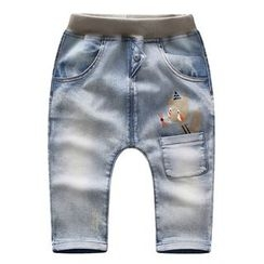 Endymion - Kids Fox Print Band Waist Jeans