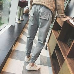 DragonRoad - Elastic Cuff Harem Pants