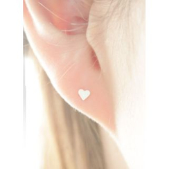 kitsch island - Silver Stud Earrings